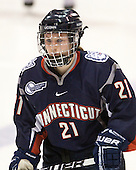 Kelly Horan (UConn - 21) - The visiting University of Connecticut Huskies defeated the Northeastern University Huskies 4-2 (EN) in NU's senior game on Saturday, February 19, 2011, at Matthews Arena in Boston, Massachusetts.