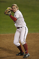 15 February 2008: Stanford Cardinal Shannon Koplitz during Stanford's 11-0 win against the Wichita State Shockers in the Stanford Invitational I at the Boyd and Jill Smith Family Stadium in Stanford, CA.