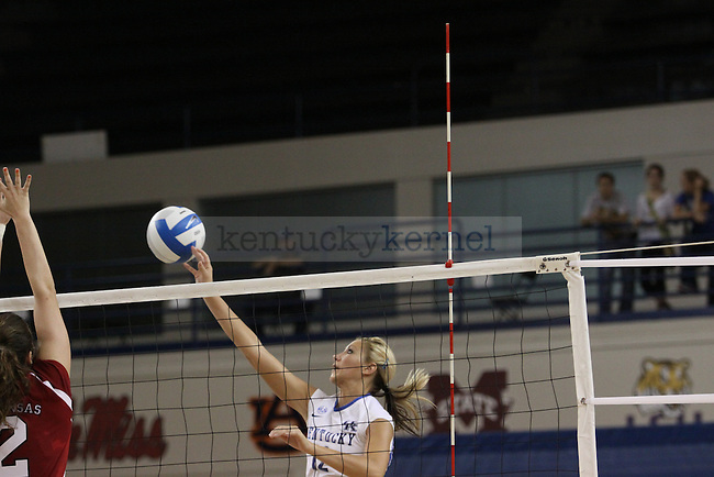 The UK volleyball team plays Ole Miss and Arkansas. Photo by Scott Hannigan | Staff