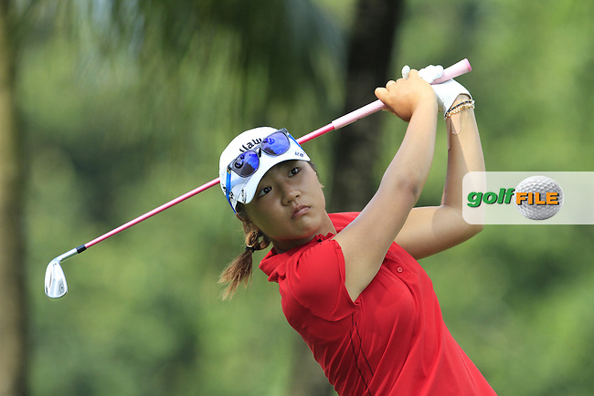 Lydia Ko (NZL) on the 2nd tee during Round 4 of the HSBC Women's Champions at the Sentosa Golf Club, The Serapong Course in Singapore on Sunday 8th March 2015.<br /> Picture:  Thos Caffrey / www.golffile.ie