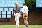 24 September 2009: UNC assistant coach Bill Palladino (left) talks with Duke head coach Robbie Church (right). The University of North Carolina Tar Heels defeated the Duke University Blue Devils 2-1 in sudden victory overtime at Fetzer Field in Chapel Hill, North Carolina in an NCAA Division I Women's college soccer game.