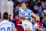 Guido Carrillo of CD Leganes during La Liga match between CD Leganes and Deportivo Alaves at Butarque Stadium in Leganes, Spain. February 29, 2020. (ALTERPHOTOS/A. Perez Meca)