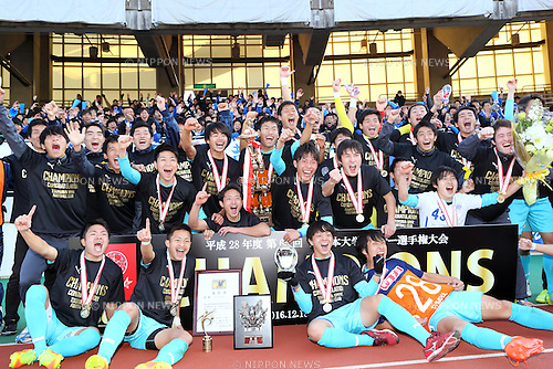 Tsukuba University team group (), <br /> DECEMBER 18, 2016 - Football / Soccer : <br /> 65th All Japan University Football Championship Award Ceremony at Urawa Komaba Stadium, Saitama, Japan. <br /> (Photo by AFLO SPORT)