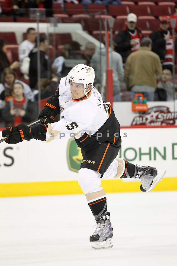 LUCA SBISA, of the Anaheim Ducks.