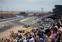 Jul 29, 2018; Sonoma, CA, USA; Overall view of the dragstrip during the NHRA Sonoma Nationals at Sonoma Raceway. Mandatory Credit: Mark J. Rebilas-USA TODAY Sports