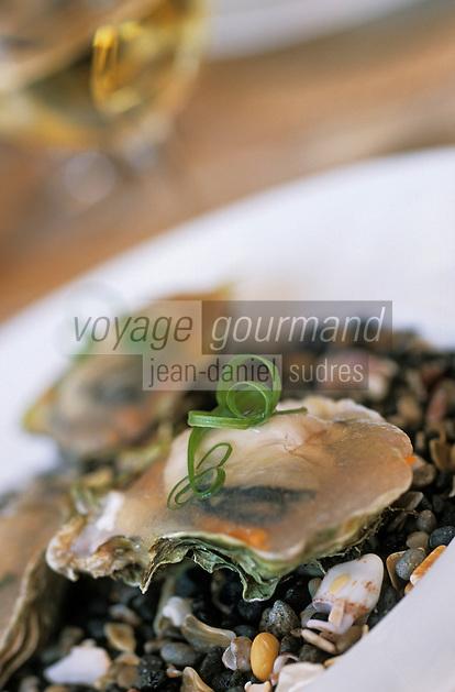 """Europe/France/Languedoc-Roussillon/34/Hérault/Marseillan: Huitres du bassin de Thau en gelée - Recette du restaurant """"Chez Philippe"""""""