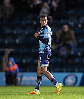 Paris Cowan-Hall of Wycombe Wanderers plays on despite looking injured during the Sky Bet League 2 match between Wycombe Wanderers and Yeovil Town at Adams Park, High Wycombe, England on 14 January 2017. Photo by Andy Rowland / PRiME Media Images.