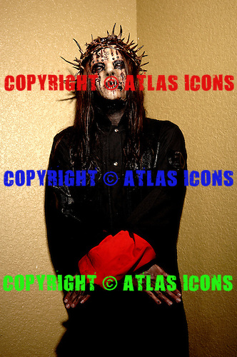 (#1) Joey Jordison – drums , Slipknot Studio Portrait Session In Desmoines Iowa.Photo Credit: Eddie Malluk/Atlas Icons.com
