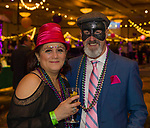 Socorro Conway and Carl Samuels during the Mardi Gras ball in the Reno Ballroom on Saturday, March 24, 2018.