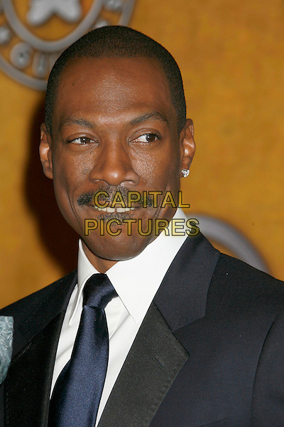 """EDDIE MURPHY.winner of the """"Male Actor In A Supporting Role"""" award for """"Dreamgirls"""".13th Annual Screen Actors Guild (SAG) Awards held at the Shrine Auditorium - pressroom,  Los Angeles, California, USA, 28 January 2007..press room portrait headshot.CAP/ADM/RE.©Russ Elliot/AdMedia/Capital Pictures."""