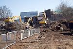 Demolition site of Suffolk College, Ipswich