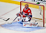 18 December 2008: Montreal Canadiens' goaltender Jaroslav Halak from the Slovak Republic gives up his second goal of the evening in the third period against the Philadelphia Flyers at the Bell Centre in Montreal, Quebec, Canada. The Canadiens, trying to avoid a four-game slide, defeated the Flyers 5-2, thus ending Philadelphia's 5-game winning streak. ***** Editorial Sales Only ***** Mandatory Photo Credit: Ed Wolfstein Photo