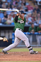 Savannah Sand Gnats left fielder Michael Conforto #28 swings at a pitch during a game against the Asheville Tourists at McCormick Field September 3, 2014 in Asheville, North Carolina. The Tourists defeated the Sand Gnats 8-3. (Tony Farlow/Four Seam Images)