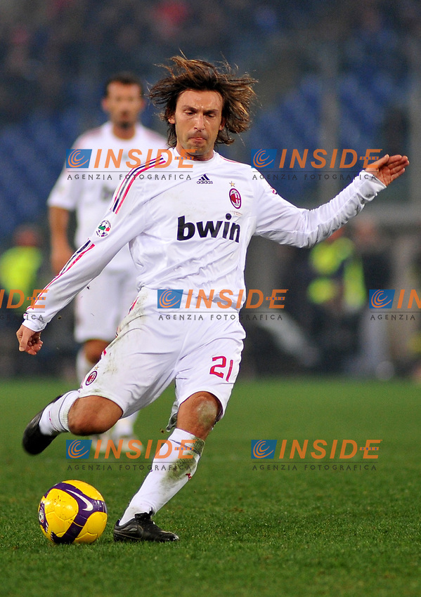 Andrea Pirlo (Milan) <br /> Roma 11/1/2009 Stadio &quot;Olimpico&quot; <br /> Campionato Italiano Serie A 2008/2009 <br /> Roma Milan (2-2)<br /> Foto Massimo Oliva/Insidefoto