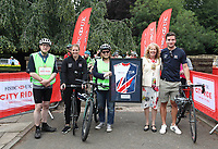 HSBC UK City Ride Sheffield<br /> Gavin Holliday (Lord Mayors Consort), Katie Marchant, Julie Harrington (Chief Executive Officer British Cycling), Cllr Anne Murphy (Lord Mayor) Callum Skinner