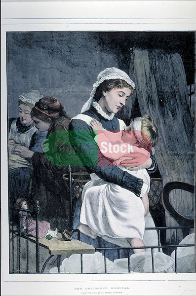 Nurse holding child patient