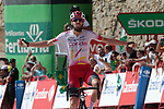 Jesus Herrada (ESP) Cofidis takes his first Grand Tour victory as he wins Stage 6 of La Vuelta 2019 running 198.9km from Mora de Rubielos to Ares del Maestrat, Spain. 29th August 2019.<br /> Picture: Colin Flockton | Cyclefile<br /> <br /> All photos usage must carry mandatory copyright credit (© Cyclefile | Colin Flockton)