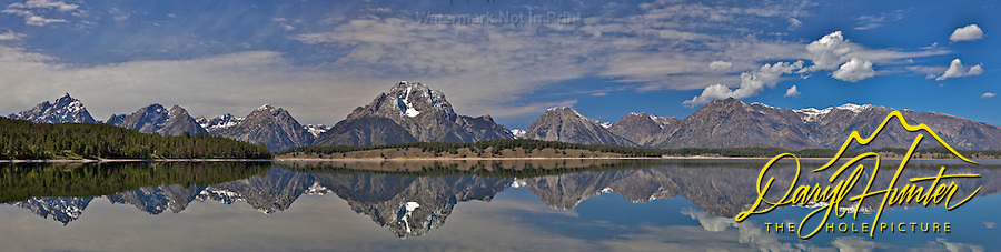 Jackson Lake Reflection Panorama, Grand Teton National Park