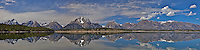 """Jackson Lake Reflection Panorama, Grand Teton National Park<br /> <br /> For production prints or stock photos click the Purchase Print/License Photo Button in upper Right; for Fine Art """"Custom Prints"""" contact Daryl - 208-709-3250 or dh@greater-yellowstone.com"""