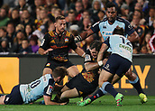 June 3rd 2017, FMG Stadium, Waikato, Hamilton, New Zealand; Super Rugby; Chiefs versus Waratahs;  Chiefs second five Stephen Donald with a carry during the Super Rugby rugby match