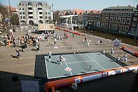 2-4-09, Alkmaar, Opening REAAL straattennis, Overzicht