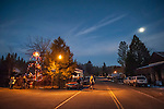 Downtown Volcano, Amador County, Calif. with snow during Christmas time.
