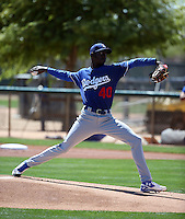 Yadier Alvarez - Los Angeles Dodgers 2016 spring training (Bill Mitchell)