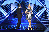 Erez Tal, Bar Refaeli<br /> Eurovision Song Contest, Rehearsal of the first semi-final, Tel Aviv, Israel - 13 May 2019<br /> **Not for sales in Russia or FSU**<br /> CAP/PER/EN<br /> ©EN/PER/CapitalPictures