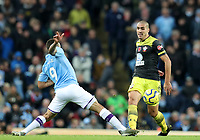 2nd November 2019; Etihad Stadium, Manchester, Lancashire, England; English Premier League Football, Manchester City versus Southampton; Oriol Romeu of Southampton evades a tackle from Gabriel Jesus of Manchester City - Strictly Editorial Use Only. No use with unauthorized audio, video, data, fixture lists, club/league logos or 'live' services. Online in-match use limited to 120 images, no video emulation. No use in betting, games or single club/league/player publications