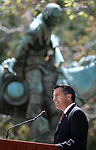 Nevada Gov. Brian Sandoval speaks at the 15th annual Nevada Law Enforcement Officers Memorial ceremony in Carson City, Nev., on Thursday, May 3, 2012. Three names were added to the wall bringing the total to 120 Nevada law officers who have been killed in the line of duty since 1861..Photo by Cathleen Allison