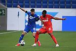 Zweikampf, Duell zwischen Munas Dabbur (Hoffenheim) und Kingsley Ehizibue (1. FC Koeln).<br /> <br /> Sport: Fussball: 1. Bundesliga: Saison 19/20: 28. Spieltag: TSG 1899 Hoffenheim - 1. FC Koeln, 27.05.2020<br /> <br /> Foto: Markus Gilliar/GES/POOL/PIX-Sportfotos.<br /> <br /> Nur für journalistische Zwecke! Only for editorial use!<br /> <br /> Gemäß den Vorgaben der DFL Deutsche Fußball Liga ist es untersagt, in dem Stadion und/oder vom Spiel angefertigte Fotoaufnahmen in Form von Sequenzbildern und/oder videoähnlichen Fotostrecken zu verwerten bzw. verwerten zu lassen. DFL regulations prohibit any use of photographs as image sequences and/or quasi-video.