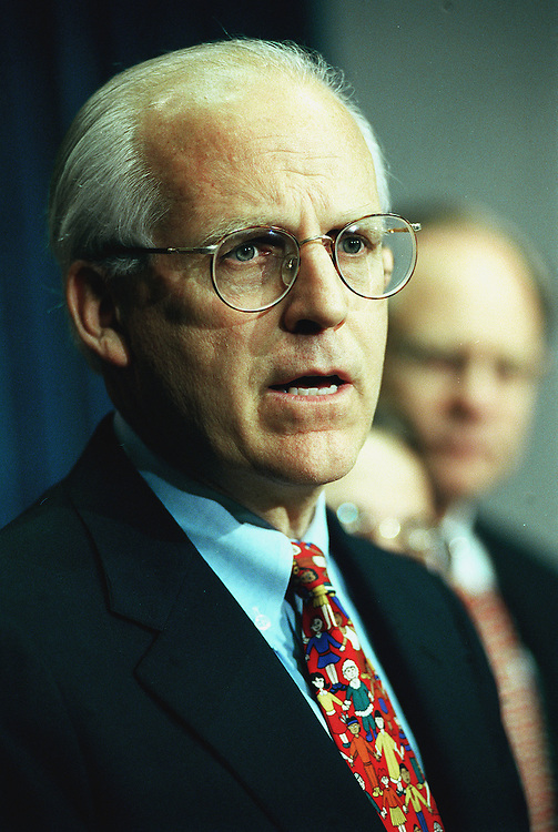 5-26-99.CAMPAIGN FINANCE REFORM--Christopher Shays, R-Conn., during a press conference on campaign finance reform..CONGRESSIONAL QUARTERLY PHOTO BY DOUGLAS GRAHAM