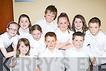 Dromclough NS, Listowel who sang in the choir at the Kerry Peace Proms in the INEC on Sunday front row l-r: Ciara Finerty, Cillian Trant, Denis Quille. Back row: Aisling Kelly, Katie Dillon, Orla Dillon, Tommy Kelly, Clodagh Murphy, Rachel Dillon and Tomás Dillon..