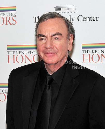 Neil Diamond arrives for the formal Artist's Dinner honoring the recipients of the 2011 Kennedy Center Honors hosted by United States Secretary of State Hillary Rodham Clinton at the U.S. Department of State in Washington, D.C. on Saturday, December 3, 2011. The 2011 honorees are actress Meryl Streep, singer Neil Diamond, actress Barbara Cook, musician Yo-Yo Ma, and musician Sonny Rollins..Credit: Ron Sachs / CNP
