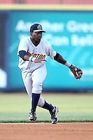 Trenton Thunder shortstop Jose Pirela #21 during a game against the Akron Aeros at Canal Park on July 26, 2011 in Akron, Ohio.  Trenton defeated Akron 4-3.  (Mike Janes/Four Seam Images)
