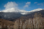 Snow-covered Mount Madison in the White Mountain National Forest, NH