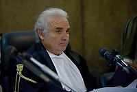 Roma, 24 Ottobre 2018<br /> Vincenzo Capozza , il Giudice.<br /> Processo Cucchi Bis contro 5 Carabinieri accusati della morte di Stefano Cucchi