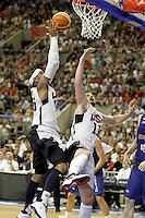 USA's Kevin Love (r) and Carmelo Anthony during friendly match.July 24,2012. (ALTERPHOTOS/Acero) /NortePhoto.com<br /> **CREDITO*OBLIGATORIO** *No*Venta*A*Terceros*<br /> *No*Sale*So*third* ***No*Se*Permite*Hacer Archivo***No*Sale*So*third*©Imagenes*con derechos*de*autor©todos*reservados*.