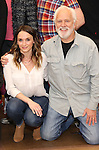 Emily Padgett and John Rubinstein attend the ''Charlie and the Chocolate Factory' Cast Photo Call at the New 42nd Street Studios on February 21, 2017 in New York City.