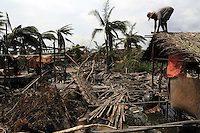 The village of Chaung Wa was devastated by Cyclone Nargis, which hit Burma in May 2008. Around 100 people, a quarter of the village's population, were killed..