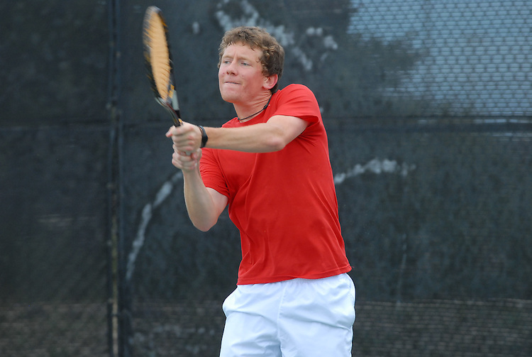 April 25, 2012; San Diego, CA, USA; Gonzaga Bulldogs athlete Scott Sullivan during the WCC Tennis Championships at the Barnes Tennis Center.