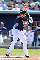 Tampa Bay Rays second baseman Ben Zobrist #18 during a spring training game against the Baltimore Orioles at the Charlotte County Sports Park on March 5, 2012 in Port Charlotte, Florida.  (Mike Janes/Four Seam Images)