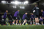 Home players are put through his paces during the pre-match warm up before Derby County played Stoke City in an EFL Championship match at Pride Park Stadium. Opened in 1997, it is the 16th-largest football ground in England and the 20th-largest stadium in the United Kingdom. The fixture ended in a 0-0 draw watched by a crowd of 25,685.