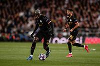 26th February 2020; Estadio Santiago Bernabeu, Madrid, Spain; UEFA Champions League Football, Real Madrid versus Manchester City; Benjamin Mendy (Manchester City)  in action