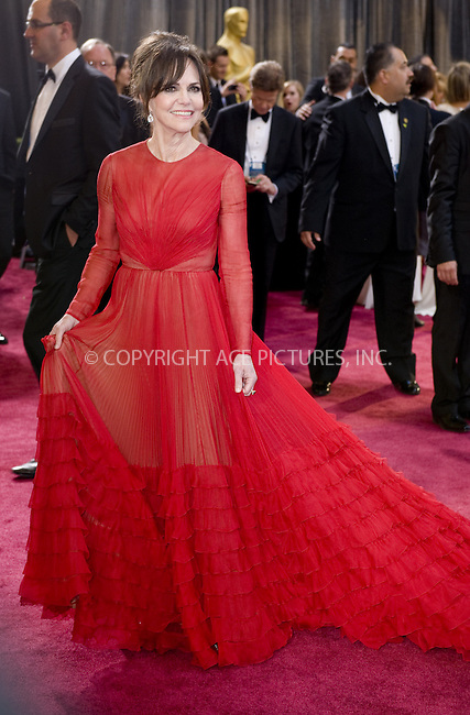 WWW.ACEPIXS.COM....February 24 2013, LA....Sally Field arriving at the 85th Annual Academy Awards at Hollywood & Highland Center on February 24, 2013 in Hollywood, California. ......By Line: Z13/ACE Pictures......ACE Pictures, Inc...tel: 646 769 0430..Email: info@acepixs.com..www.acepixs.com