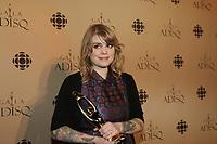 October 28 2012 - Montreal, Quebec, CANADA - ADISQ 34th Gala - Interprète féminine de l'année: Coeur de pirate
