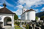 St. Peter & Paul Kirche und Friedhof, cemetary, Mauren, Rheintal, Rhine-valley, Liechtenstein.