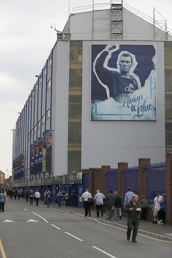 A general view of Goodison Park, home of Everton<br /> <br /> Photographer Stephen White/CameraSport<br /> <br /> Football - Barclays Premiership - Everton v Manchester City - Sunday 23rd August 2015 - Goodison Park - Liverpool<br /> <br /> &copy; CameraSport - 43 Linden Ave. Countesthorpe. Leicester. England. LE8 5PG - Tel: +44 (0) 116 277 4147 - admin@camerasport.com - www.camerasport.com