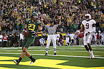 10/02/10-- Oregon's Jeff Maehl walks into the end zone for a touchdown in the 2nd quarter against Stanford at Autzen Stadium in Eugene, Or.Photo by Jaime Valdez......