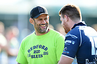 Bedford Blues assistant coach Paul Tupai looks on after the match. Greene King IPA Championship match, between Ealing Trailfinders and Bedford Blues on April 20, 2019 at the Trailfinders Sports Ground in London, England. Photo by: Patrick Khachfe / Onside Images